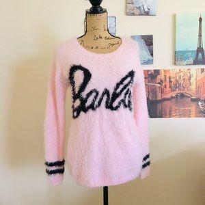 Sweaters - Barbie pink eyelash knit sweater, Sz. M/L